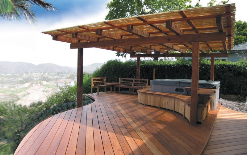 Unique Deck Overlooking Napa Valley