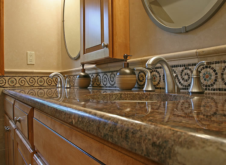 New Bathroom Counter-Top, Sink and Facets