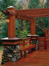Beautiful Redwood Deck in Napa, CA