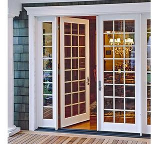 French Style Doors with Colonial Overtones