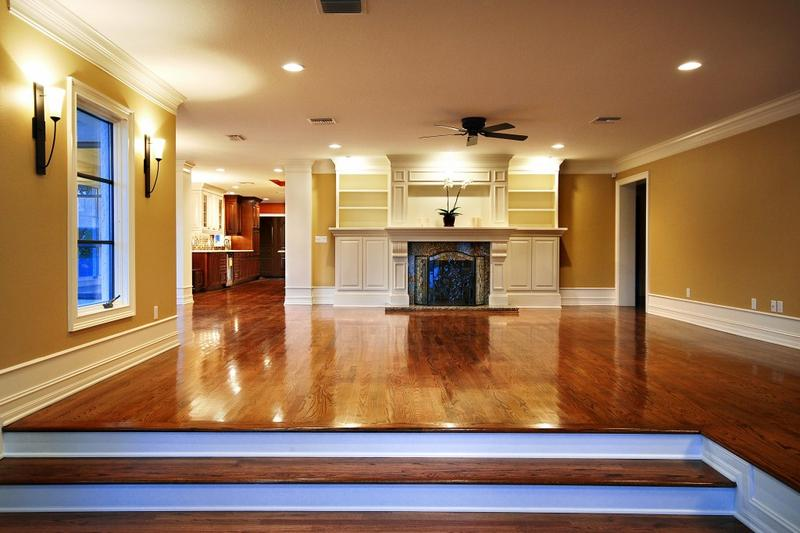New Hardwood Floor in Elegant Home with Outstanding Interior Lighting